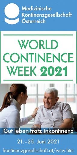 Welt-Kontinenz-Woche 21.-25. Juni 2021: Expertinnen informieren in täglichen Online-Vorträgen, was jede(r) zur Verbesserung der Kontinenz beitragen kann und geben Hilfestellung im Alltag