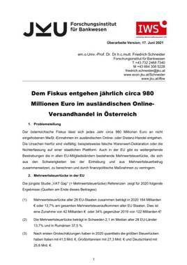 980 Millionen Euro durch Schließen der Mehrwertsteuerlücke