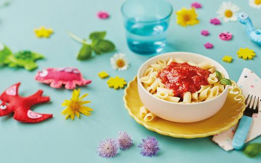 Mini-Penne mit Tomatenragout aus dem gluten- und laktosefreien Sortiment
