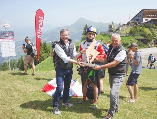 Ehrenpreis der Bergbahn Kitzbühel für Paul Guschlbauer