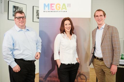 v.l.n.r. Jürgen Gangoly (Kommunikationsexperte), Mariella Schurz (B&C), Andreas Lechner (MEGA)