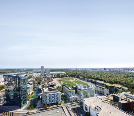 Das Wiener Vorzeigestadtquartier Viertel Zwei von Value One ist die stärkste Marke Österreichs in der Kategorie Business Campus.