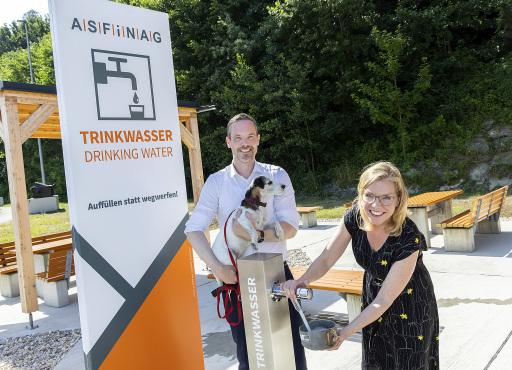 Klimaschutzministerin Leonore Gewessler und ASFINAG Vorstand Hartwig Hufnagl