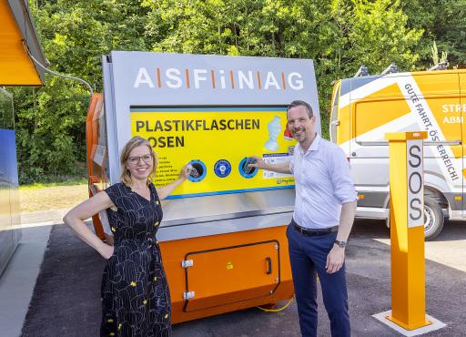 PET-Presscontainer als Pilotprojekt der ASFINAG