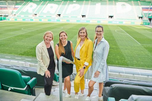 v.l.n.r.: Petra Stolba, Ulrike Glatt, Doris Ploner, Natalie Dannik © Martin Hörmandinger