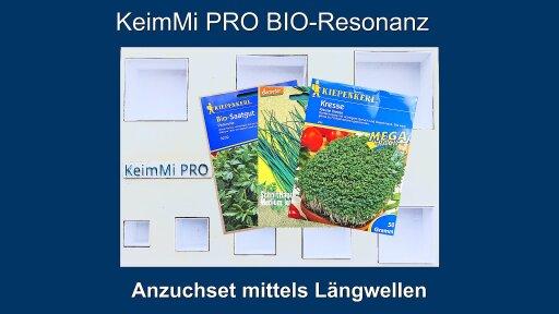 """Das neue """"KeimMi PRO Bio-Resonanz Anzucht- und Wachstums-Set"""" findet die BIO-Resonanz-Keimungs-Frequenz verschiedener Samenarten heraus. BIO-resonante Schwingungen fördern das Keimen und Gedeihen, dissonante Wellen hemmen das Wachstum. Jede Samenart verwendet andere, bioaktive Wellen um rascher zu wachsen. Diese natürliche BIO-Technologie hilft Agrarwirten ihre Pflanzenprofite zu steigern. Die Arbeitszeit beträgt nur 2 Minuten!"""