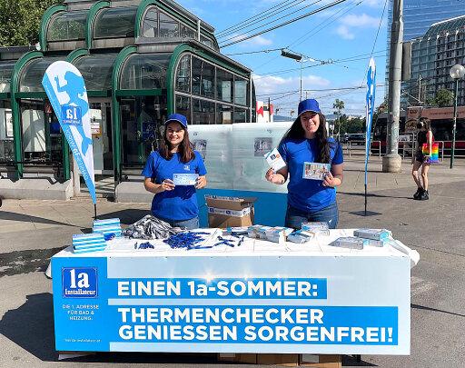 Promotionaktion der Wiener 1a-Installateure am Wiener Schwedenplatz
