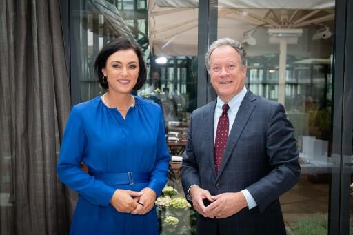 Landwirtschaftsministerin Elisabeth Köstinger und Direktor des World Food Programme David Beasley