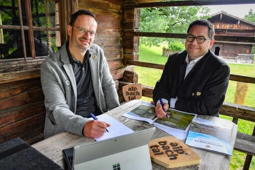 Marketingleiter Michael Mairhofer und TVB-Geschäftsführer Markus Kofler.