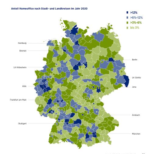 Homeoffice-Angebote finden sich stärker im Umkreis von Großstädten / Weiterer Text über ots und www.presseportal.de/nr/63173 / Die Verwendung dieses Bildes ist für redaktionelle Zwecke unter Beachtung ggf. genannter Nutzungsbedingungen honorarfrei. Veröffentlichung bitte mit Bildrechte-Hinweis.