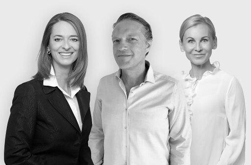 Nach dem Verkauf seiner C3-Anteile an Burda wird Content-Marketing-Pionier und C3-Gründer Lukas Kircher in Österreich exklusiv bei COPE die Rolle des Chief Creative Consultants übernehmen. Hier in einer Collage zu sehen mit den beiden Geschäftsführerinnen von COPE - Xenia Daum (l.) und Eva Maria Kubin (r.).