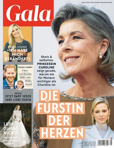 Cover GALA 31/2021 (EVT: 29. Juli 2021) / Weiterer Text über ots und www.presseportal.de/nr/6106 / Die Verwendung dieses Bildes ist für redaktionelle Zwecke unter Beachtung ggf. genannter Nutzungsbedingungen honorarfrei. Veröffentlichung bitte mit Bildrechte-Hinweis.
