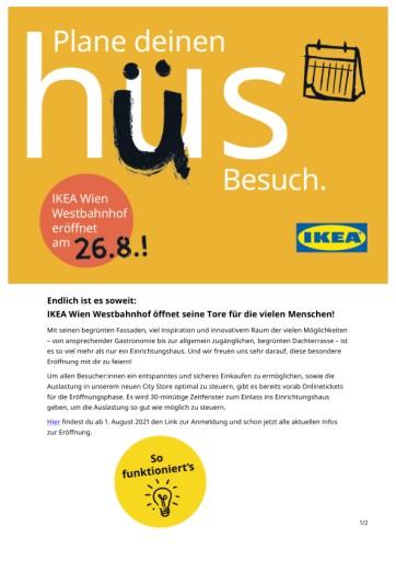 Urbanes Shoppingkonzept im nachhaltigen Ambiente: IKEA Wien Westbahnhof öffnet am 26. August seine Türen