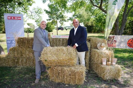 Geschäftsführer PANNATURA Matthias Grün und Hannes Mosonyi, Obmann des burgenländischen Agrarhandels