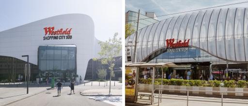 """Im September 2021 werden die Center zu """"Westfield SCS"""" und """"Westfield Donau Zentrum"""" rebrandet."""