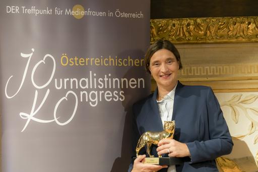 Lisa Totzauer, 2018 mit der Goldenen MedienLÖWIN ausgezeichnet