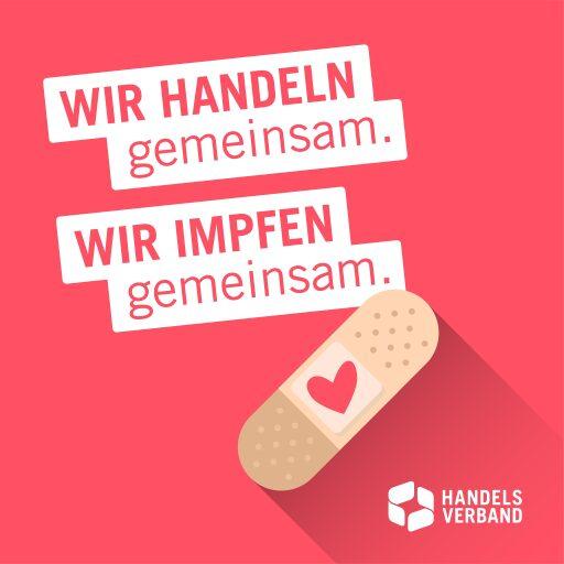 Sujet der Impfkampagne des österreichischen handels