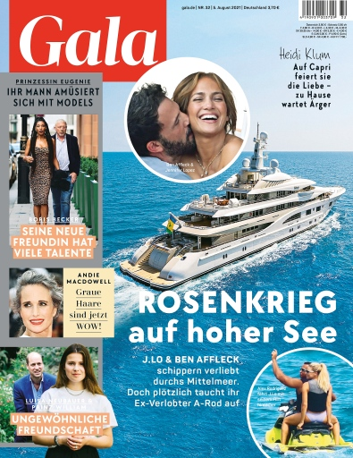 Cover GALA 32/2021 / Weiterer Text über ots und www.presseportal.de/nr/6106 / Die Verwendung dieses Bildes ist für redaktionelle Zwecke unter Beachtung ggf. genannter Nutzungsbedingungen honorarfrei. Veröffentlichung bitte mit Bildrechte-Hinweis.