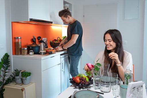 Die STUWO Wohnheime bieten sowohl Kleinküchen als auch Gemeinschaftsküchen