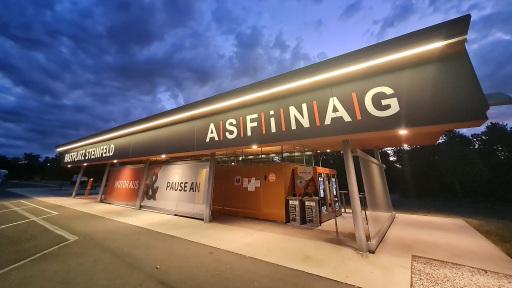 Der neu gestaltete ASFINAG Rastplatz Steinfeld
