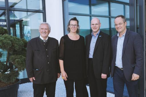 Univ.-Prof. em. Dr. J. Peter Guggenbichler, Assoz. Univ.-Prof. Dr. Miranda Suchomel, Dr. Alexander Taubinger, Priv.-Doz. Dr. Markus Hell (im Bild von links)