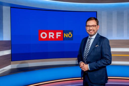 Robert Ziegler im NÖ heute Studio - Nahaufnahme