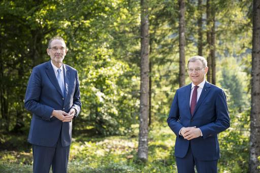 Wissenschaftsminister Dr. Heinz Faßmann und Landeshauptmann Mag. Thomas Stelzer.