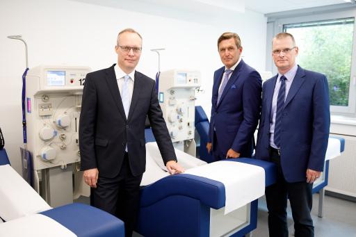 Alexander Biach, Peter Hanke und Matthias Gessner im Plasmaspendezentrum in der Operngasse