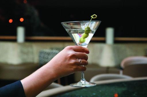 Martini in der Cascade Bar, Vienna Marriott Hotel