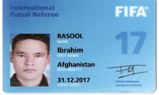Die FIFA-Karte von Ibrahim Rasool.