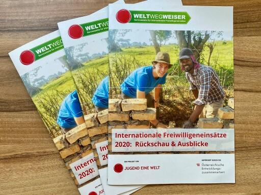 """Alle zwei Jahre bringt WeltWegWeiser einen Freiwilligenbericht heraus. Der aktuelle Bericht steht ganz unter dem Zeichen von Corona und trägt den Titel: """"Internationale Freiwilligeneinsätze 2020: Rückschau & Ausblicke""""."""