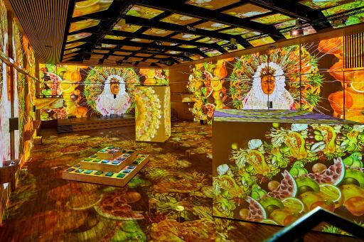 """Immersive Inszenierung von Frida Kahlos Welt / Weiterer Text über ots und www.presseportal.ch/de/nr/100087186 / Die Verwendung dieses Bildes ist für redaktionelle Zwecke honorarfrei. Veröffentlichung bitte unter Quellenangabe: """"obs/MAAG Music & Arts AG/Andy Juchli"""""""