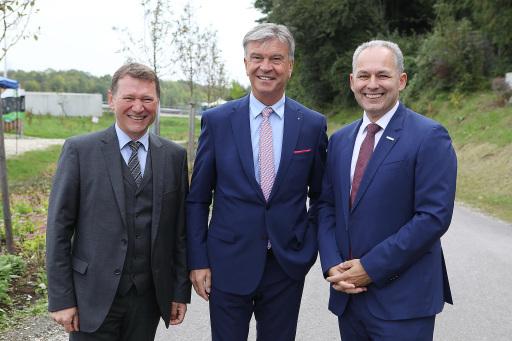 Wels Strom Geschäftsführer Franz Gruber, Energie AG Vorstandsvorsitzender Werner Steinecker, Wels Strom Geschäftsführer Friedrich Pöttinger
