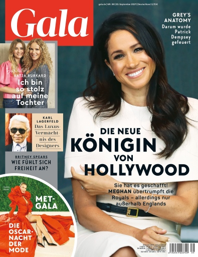 GALA Cover 39/2021 (EVT: 23. September 2021) / Weiterer Text über ots und www.presseportal.de/nr/6106 / Die Verwendung dieses Bildes ist für redaktionelle Zwecke unter Beachtung ggf. genannter Nutzungsbedingungen honorarfrei. Veröffentlichung bitte mit Bildrechte-Hinweis.