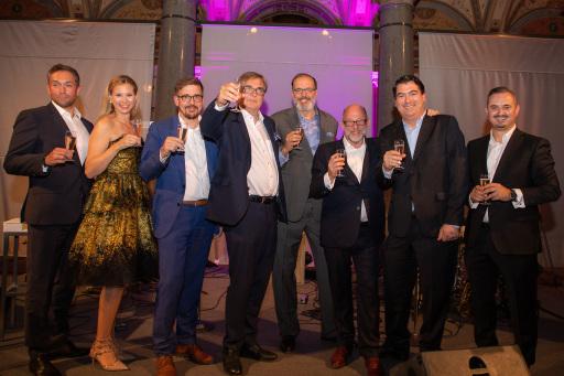 Gruppenfoto der Partner bei Lansky, Ganzger, Goeth, Frankl & Partner