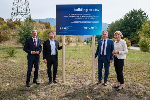 Building Roots - BABEG kompensiert CO2 Emissionen im Industriepark St. Veit