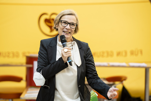 Foto von Zsolt Marton Der Tag der Selbsthilfe 2021 wurde von Franziska Renner, Mitglied der WiG-Geschäftsführung, eröffnet.