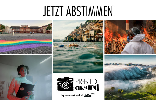 Noch bis 1. Oktober 2021 ist das Online-Voting zum PR-Bild Award 2021 möglich - die Shortlist der 60 besten PR-Bilder des Jahres wurde von einer Fachjury erstellt