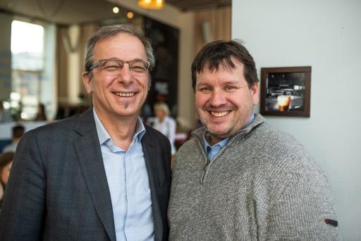 Helmut Leopold (AIT; links) und Peter Lieber (Lieber.Group; rechts) stellten 2019 das gemeinsame Produkt ThreatGet vor und freuen sich nun über die Auszeichnung des holistischen Consultingansatzes beim Constantinus 2021