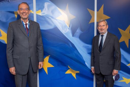 Wissenschaftsminister Heinz Faßmann und EU-Kommissar Johannes Hahn