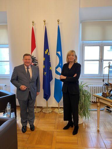Volksanwalt Amon und Europäische Bürgerbeauftragte O´Reilly