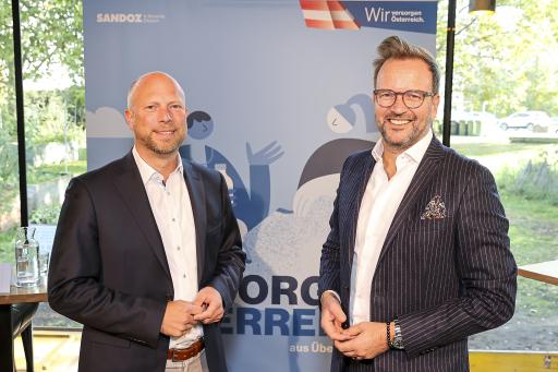 https://www.apa-fotoservice.at/galerie/26899 v.l.n.r.: Andreas Eberhorn (Country Head Sandoz Österreich), Michael Kocher (Country President Novartis Österreich)