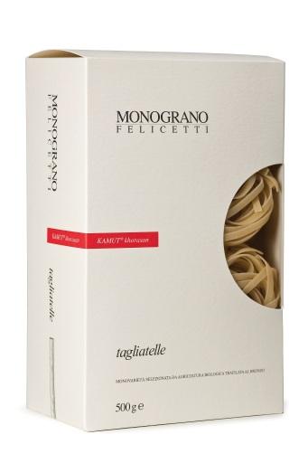 Nur eine der vielen Köstlichkeiten direkt aus Italien: Die Monograno Felicetti Kamut® khorasan Tagliatelle
