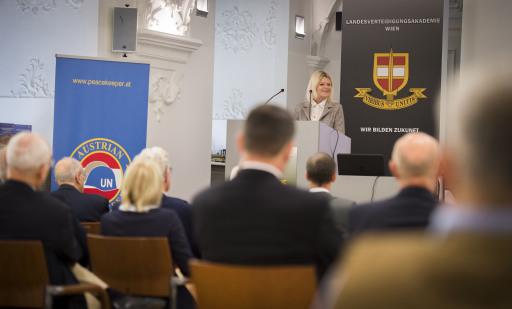 Blauhelm- Forum an der Landesverteidigungsakademie.